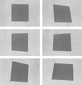 Dalla serie: Geometria non euclidea, deformazione del quadrato  Venezia 1964 - new print Bergamo 2007